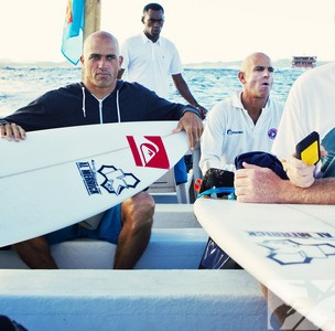 Kelly Slater preparing for battle against Fiji local wild card Isei Tokovou