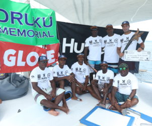 Competitors in the 2017 inaugural Druku Memorial open event at Cloudbreak